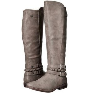 Rampage tall riding boots with braid